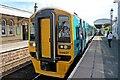 SJ3033 : Arriva Trains Wales Class 158, 158827, Gobowen railway station by El Pollock