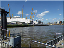TQ3980 : O2 Centre from the Pier by Christine Matthews