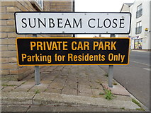 TM0321 : Sunbeam Close sign by Hamish Griffin
