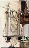 TQ2792 : St James the Great, Friern Barnet Lane, now St Katherine's Greek Orthodox Church - Wall monument by John Salmon