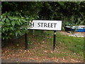 TM0321 : High Street sign by Hamish Griffin