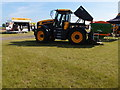 TL4243 : JCB Fastrac and fertiliser spreader by Michael Trolove