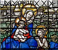 TQ8324 : Detail, Stained glass window, St Mary's church, Northiam by Julian P Guffogg