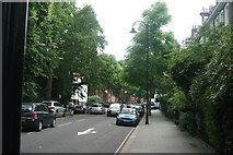 TQ2678 : View up Boltons Place from Old Brompton Road by Robert Lamb