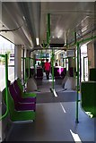 SO9198 : Midland Metro tram no. 20 on display - interior, St. Georges, Bilston Street, Wolverhampton by P L Chadwick