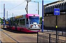 SO9198 : Midland Metro tram no. 09 approaching St. Georges, Bilston Street, Wolverhampton by P L Chadwick