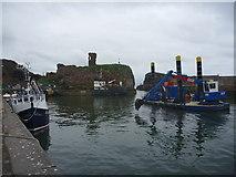 NT6779 : Coastal East Lothian : Dredgers At Victoria Harbour, Dunbar by Richard West