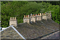 SK0181 : Roof at Whaley Bridge by Alan Murray-Rust