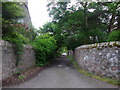 NO5298 : Urban lane crossroads, Aboyne by Stanley Howe