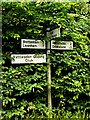 TL9756 : Roadsign on High Town Green by Geographer