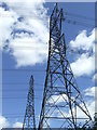 TM3657 : Power Lines And Pylons by Keith Evans