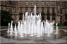 SK3587 : Fountains in the Peace Gardens by Graham Hogg