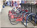NY9464 : Bike and Go docking station, Hexham station by Oliver Dixon