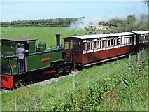 SS6846 : Lynton & Barnstaple Railway: near Woody Bay Station by Martin Bodman