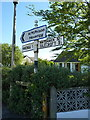 SD1679 : Pre-Worboys roadsign near Millom by Richard Law