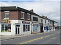 SJ9142 : Shops on Uttoxeter Road, Longton by David Weston
