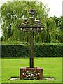 TL9155 : Cockfield Village sign by Adrian Cable