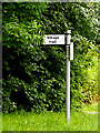 TL8851 : Village Hall sign on Old Bury Road by Adrian Cable