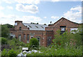 SK2503 : Former colliery buildings at Pooley Park by Alan Murray-Rust