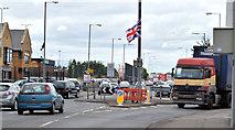 J3272 : Boucher Road/Tate's Avenue roundabout, Belfast (June 2014) by Albert Bridge