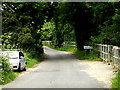 TL8346 : Entering Suffolk on Pentlow Road by Geographer
