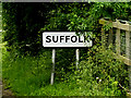TL8346 : Suffolk Border sign by Adrian Cable
