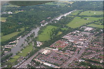 SU7682 : River Thames, Henley-on-Thames: aerial 2014 by Chris