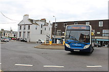 NS3321 : Roundabout at Fort Street, Ayr by Billy McCrorie