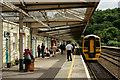 SH5771 : Bangor Railway Station by Peter Trimming