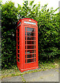 TL8144 : Telephone Box on School Road by Adrian Cable