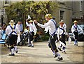 TF1406 : Morris dancers at The Golden Pheasant, Etton by Paul Bryan