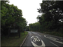 TL8146 : Entering Cavendish on the A1092 Melford Road by Adrian Cable