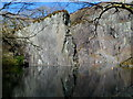 SH5860 : Flooded former Vivian Quarry, Gilfach Ddu by Jaggery