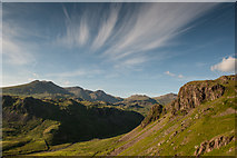 NY2201 : Hillside above Upper Eskdale by Tom Richardson
