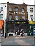 TQ3476 : Eel & Pie House: M. Manze, 105 Peckham High Street by Robin Stott