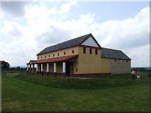 SJ5608 : Replica of a Roman villa, Wroxeter by Chris Whippet