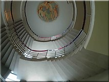 SD4264 : The spiral staircase Midland Hotel Morecambe by Steve  Fareham