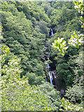 SN7477 : Mynach Falls, Devil's Bridge by Christine Matthews