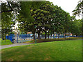 TQ3377 : Playground, open space by Commercial Way by Robin Stott