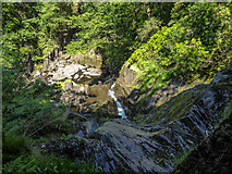 SN7477 : Looking down from Robbers' Cave, Devil's Bridge by Christine Matthews