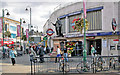TQ2771 : Tooting Broadway Station entrance, with King Edward VII statue by Ben Brooksbank
