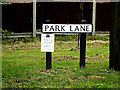 TL8348 : Park Lane sign by Adrian Cable