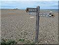 TG0544 : Footpath junction, Norfolk Coast Path by Pauline E