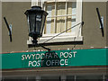 SN7634 : Lamp above the Post Office, Market Square, Llandovery by Christine Matthews
