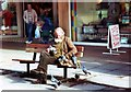 ST7564 : Feeding the Pigeons by Des Blenkinsopp