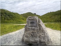 NZ2377 : Northumberlandia, Commemoration Stone by David Dixon