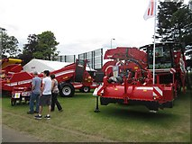 NT1472 : Potato growing machinery on display, 2014 Royal Highland Show by Graham Robson