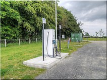 NZ2376 : Electric Car Charging Point at Northumberlandia by David Dixon