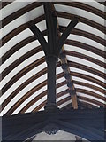 TL9925 : St. Martin's Church, West Stockwell Street, CO1 - chancel roof (2) by Mike Quinn