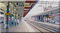 TQ5686 : Upminster Station, eastward on Platform 2 by Ben Brooksbank